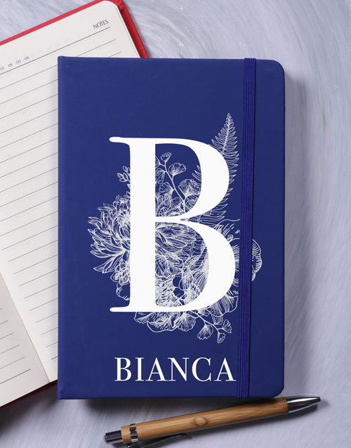 mothers-day: Personalised Botanic Initial A5 Notebook!