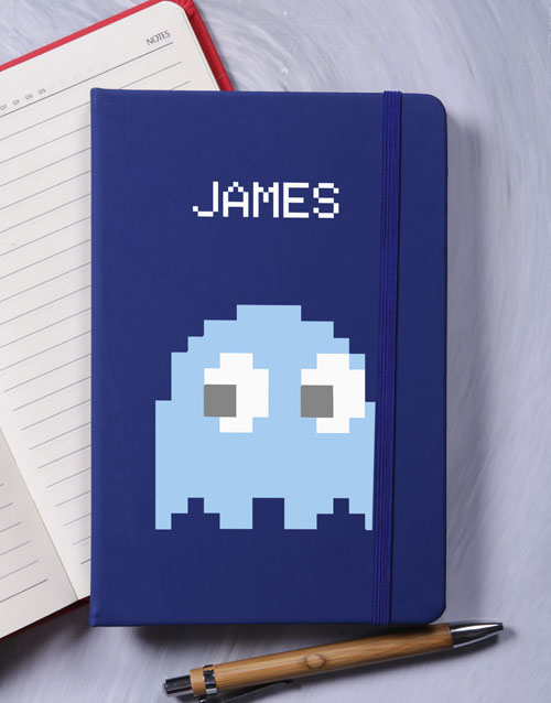 notebooks: Personalised 8bit Ghost A5 Notebook!