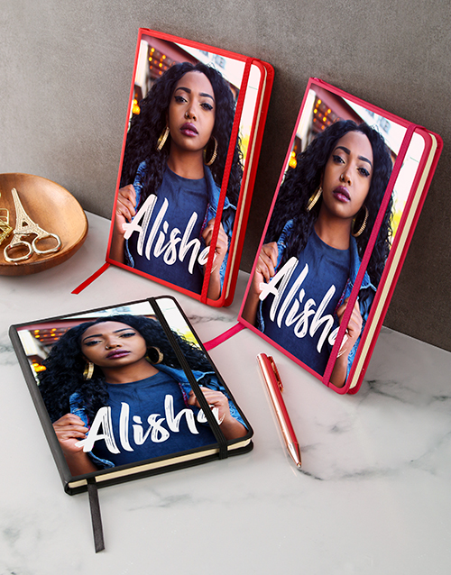 congratulations: Personalised Vogue Photo A5 Notebook!