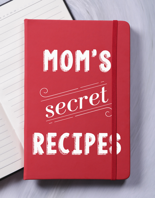 mothers-day: Personalised Secret Recipes A5 Hardcover Notebook!