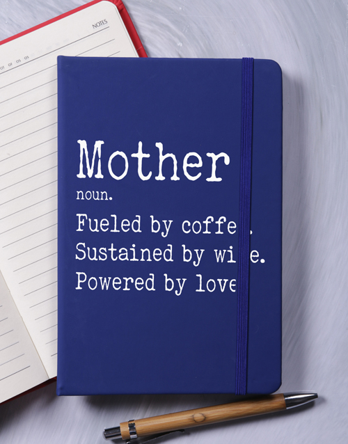 mothers-day: Personalised Definition A5 Hardcover Notebook!