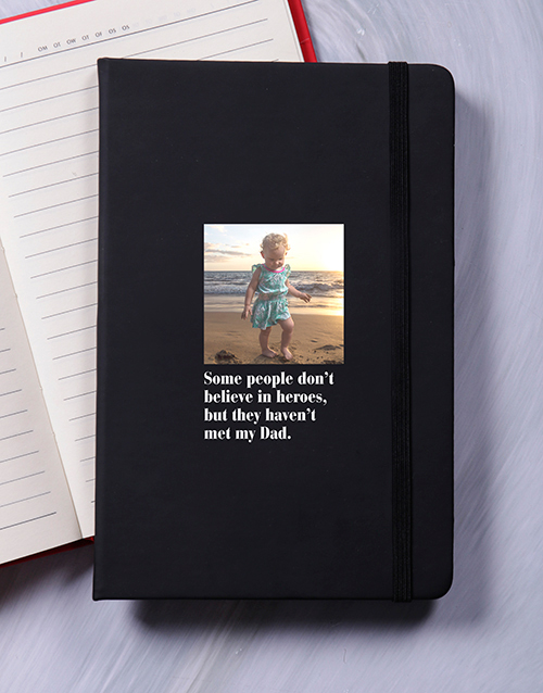 fathers-day: Personalised Hero A5 Notebook!