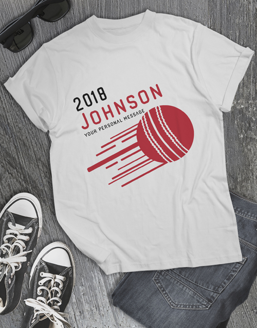 personalised: Personalised Surname Cricket T Shirt!