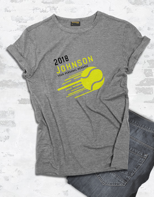 personalised: Personalised Surname Tennis T Shirt!
