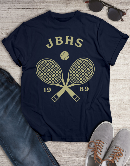 personalised: Personalised Tennis Team T Shirt!