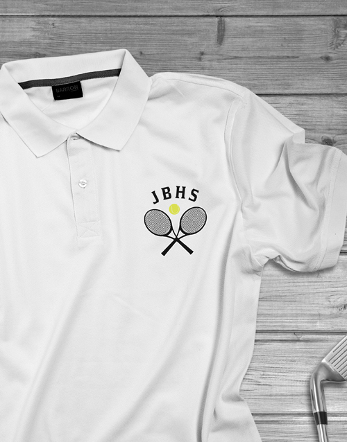 clothing: Personalised Tennis Initials Polo Shirt!