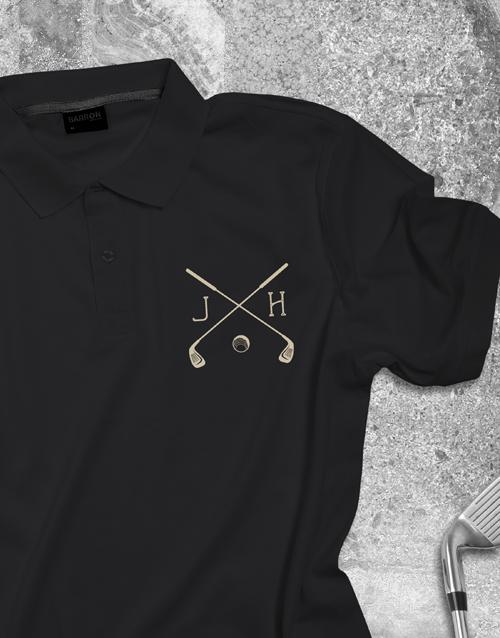 clothing: Personalised Golf Club Printed Polo Shirt!