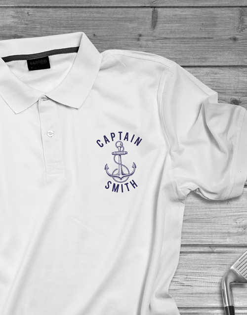 clothing: Personalised Captain Polo Shirt !