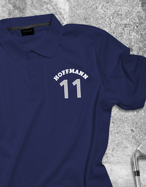 clothing: Personalised Sporty Polo Shirt!