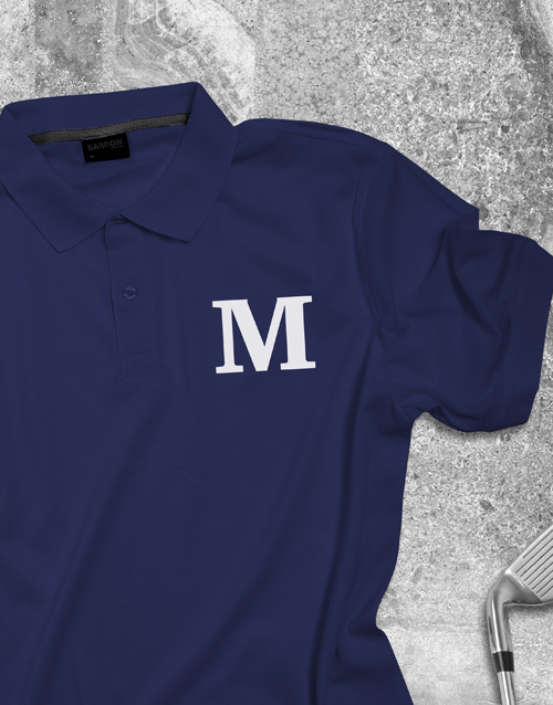 clothing: Personalised Initial Printed Polo Shirt!