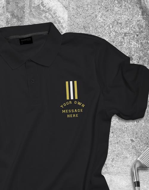clothing: Personalised Stripe Polo Shirt!
