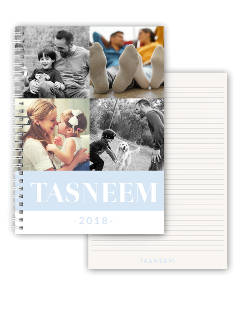fathers-day: Personalised Name and Year Photo Notebook!