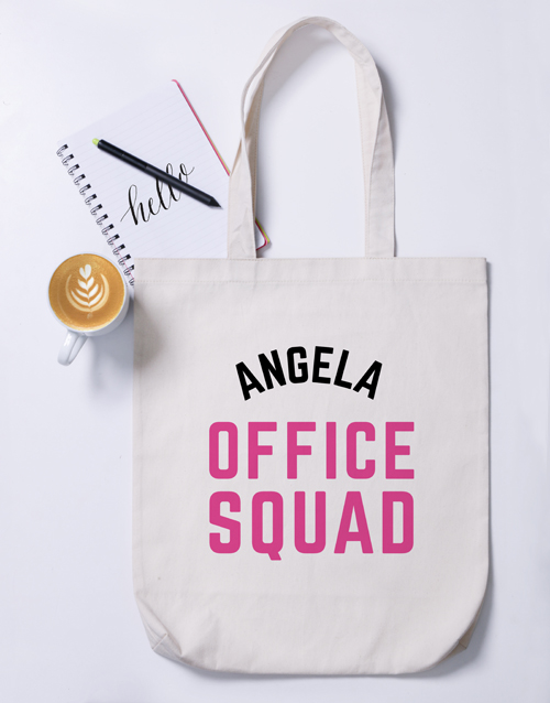 secretarys-day: Personalised Office Squad Tote Bag!