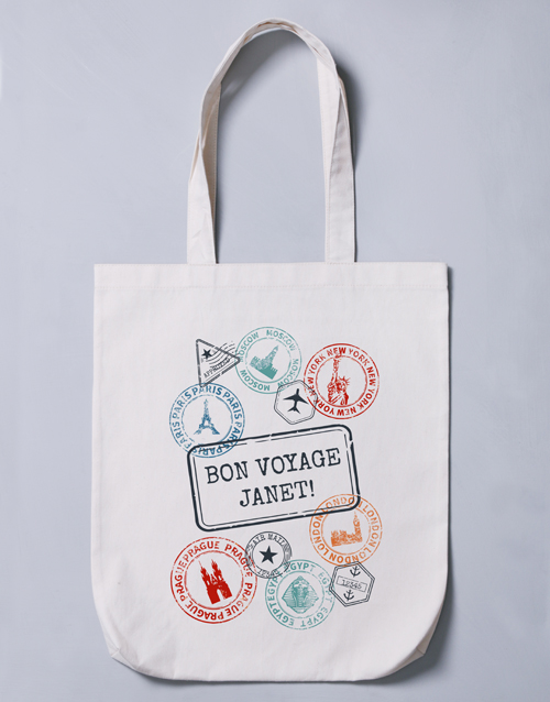 mothers-day: Personalised Bon Voyage Tote Bag!