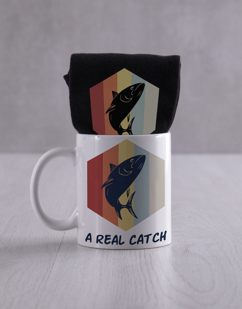 apparel: Personalised Real Catch Socks And Mug!