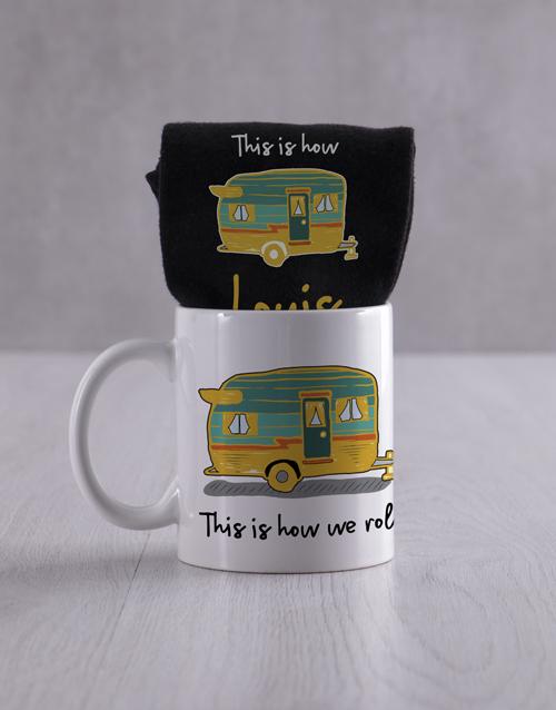 socks: Personalised How We Roll Socks And Mug!