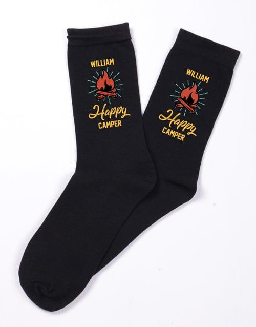 apparel: Personalised Happy Camper Socks!