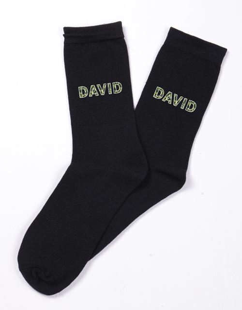 valentines-day: Personalised Camo Socks!