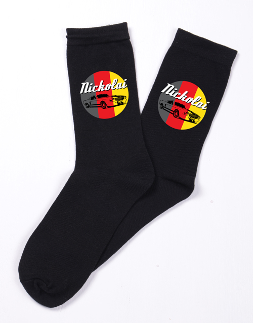 valentines-day: Personalised Retro Car Socks!