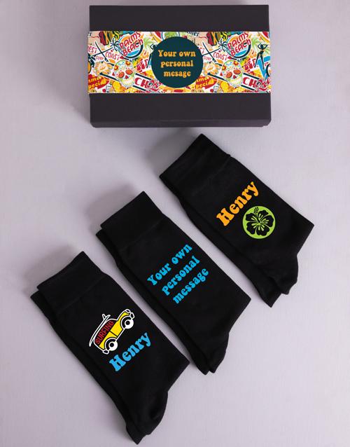 apparel: Personalised Three Pair Summer Socks Box!