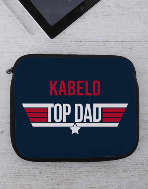 personalised: Personalised Top Dad Tablet or Laptop Sleeve!