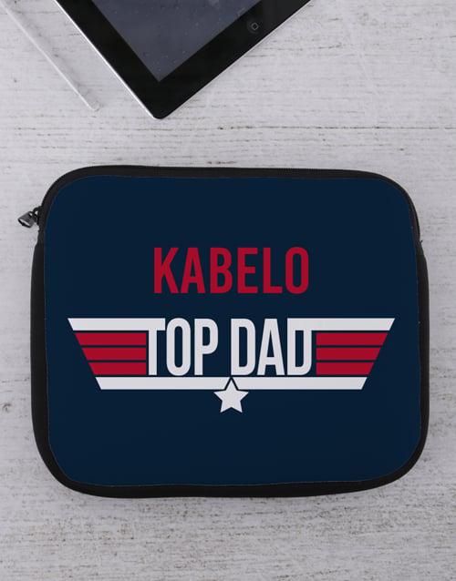 new-years: Personalised Top Dad Tablet or Laptop Sleeve!