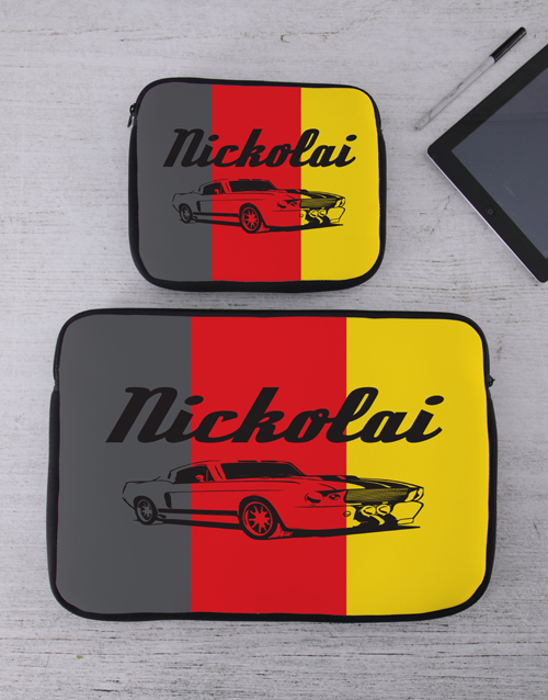 personalised: Personalised Retro Car Tablet or Laptop Sleeve!