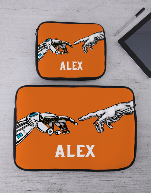 personalised: Personalised Hands Tablet or Laptop Sleeve!