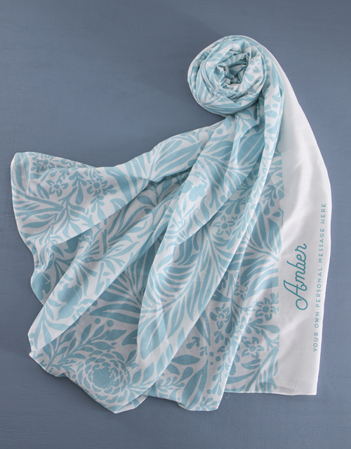 bath-and-body: Personalised Blue Nature Scarf Gift!