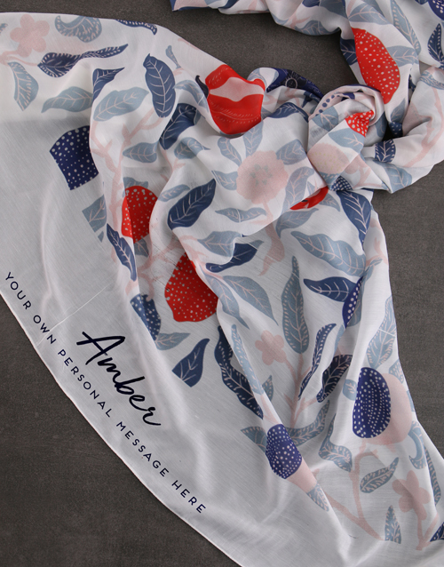bath-and-body: Personalised Blue Garden Scarf Gift!