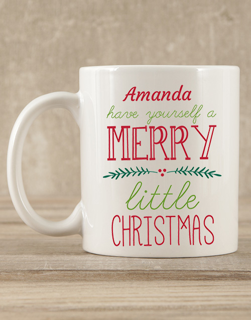 christmas: Personalised Merry Little Christmas Mug Gift!