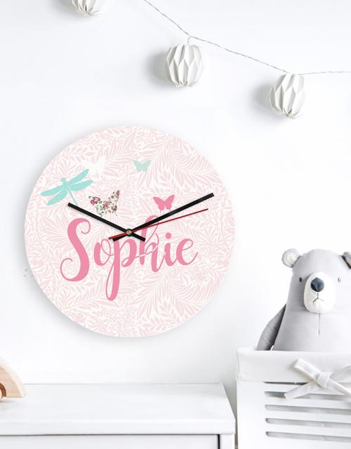 baby: Personalised Butterflies Clock!