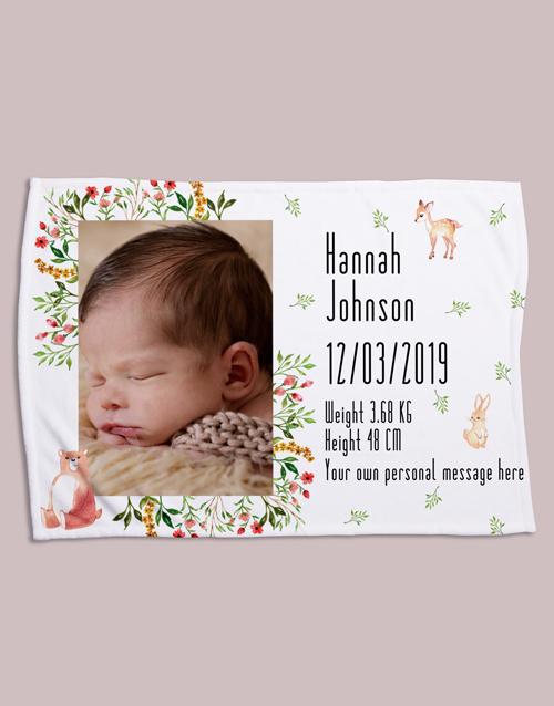 apparel: Personalised Forest Friends Birth Fleece Blanket!