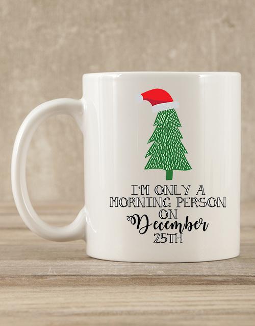 christmas: Personalised Morning Person Mug Gift!
