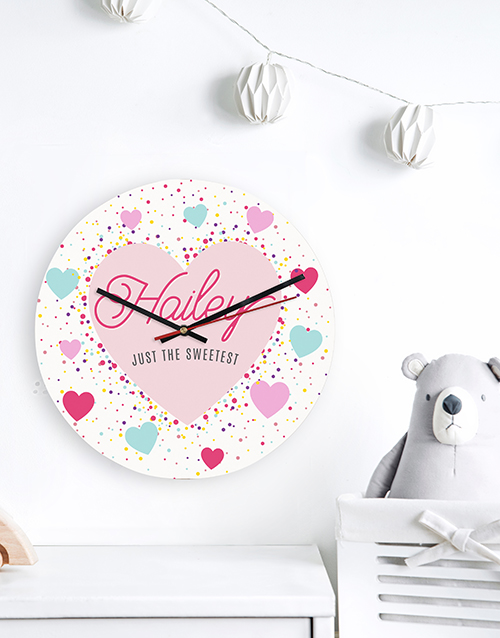 home-decor: Personalised Sweetest Clock!