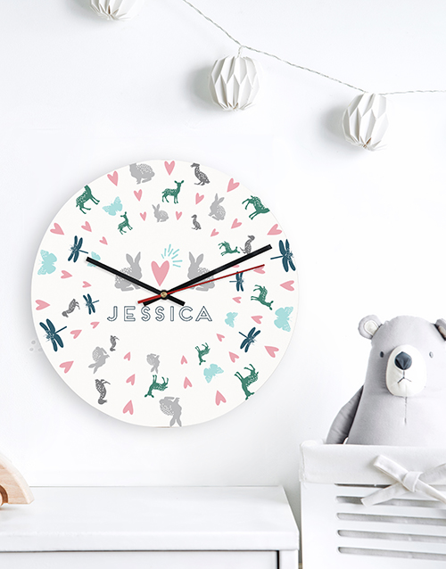 home-decor: Personalised Garden Cat MDF Clock!