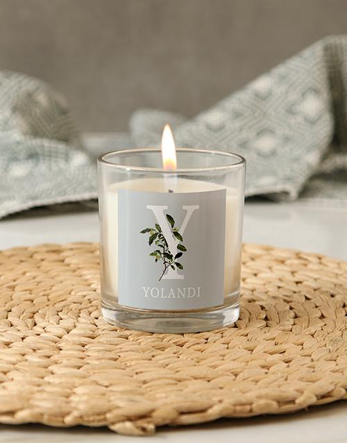 personalised: Personalised Botanic Name Candle!