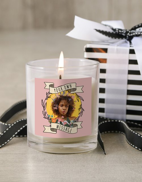 personalised: Personalised Photo Wreath Candle!