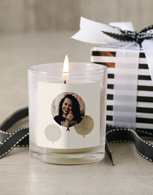 bath-and-body: Personalised Photo Birthday Candle!