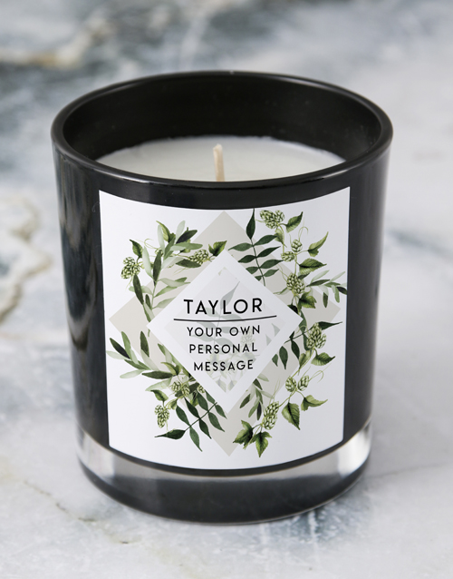 bath-and-body: Personalised Foilage Black Candle!