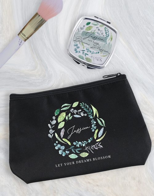 bosses-day: Personalised Blossom Cosmetic Bag!