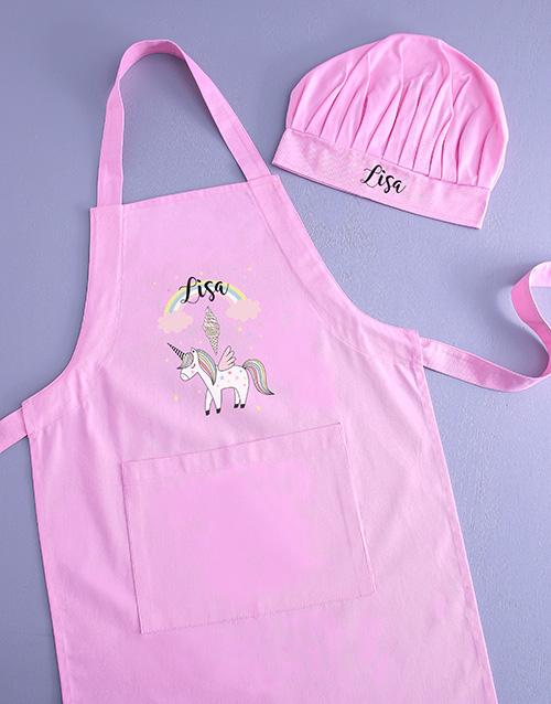 personalised: Personalised Unicorn Kids Apron!