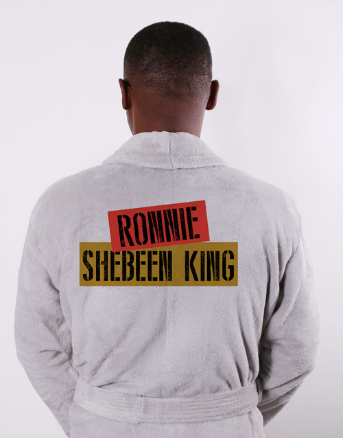 bath-and-body: Personalised Shebeen King Grey Gown!