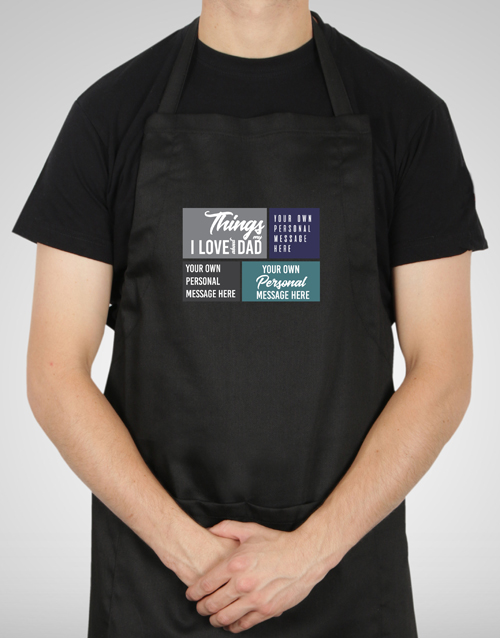 christmas: Personalised Love About Dad Apron!
