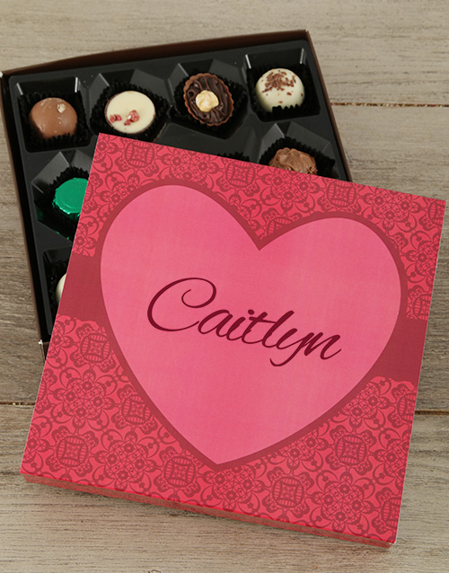 valentines-day: Personalised Sweet Love Choc Tray!