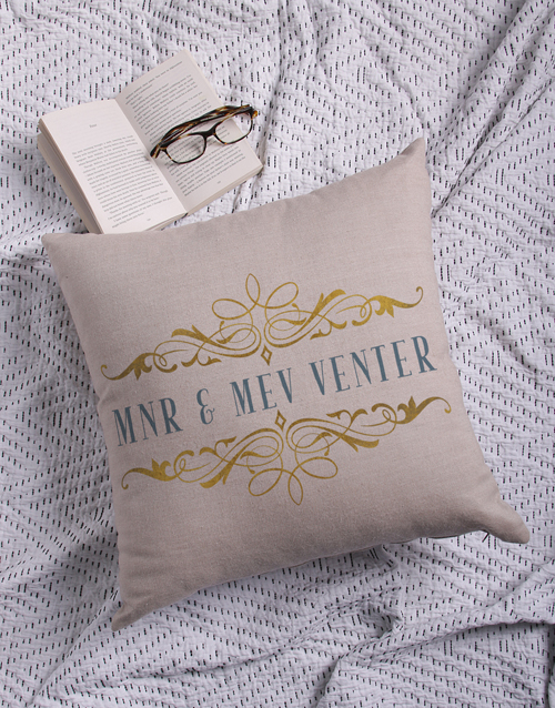 christmas: Personalised Mnr & Mev Scatter Cushion!