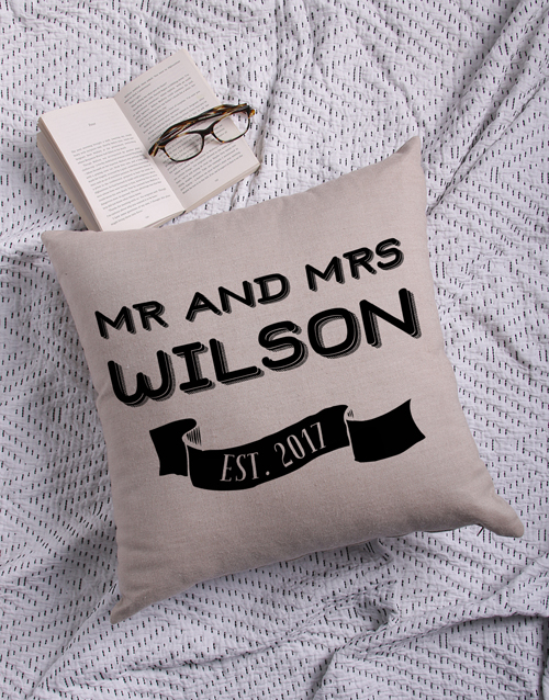 mothers-day: Personalised Mr and Mr Scatter Cushion!