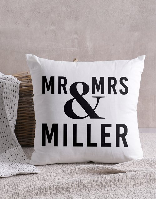 anniversary: Personalised Mr & Mrs Scatter Cushion!