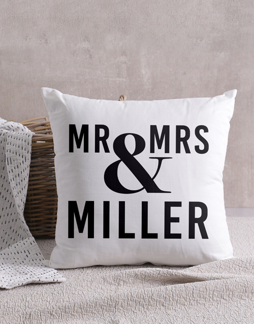 mothers-day: Personalised Mr & Mrs Scatter Cushion!