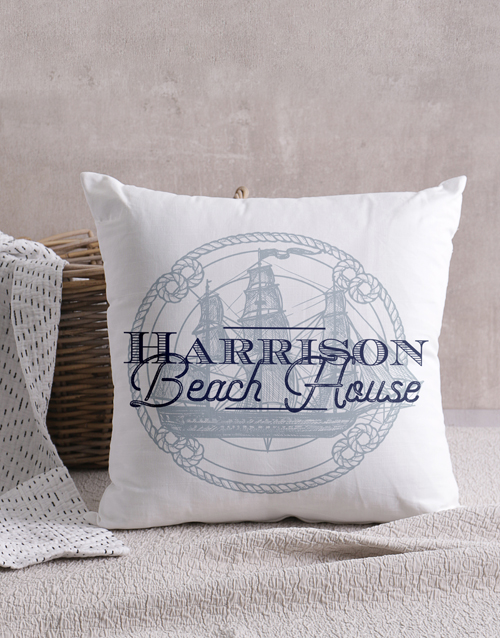 christmas: Personalised Beach House Scatter Cushion!